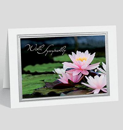 Lotus Blossom Sympathy Card