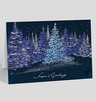 Sparkling Pines Holiday Card