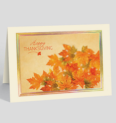 thanksgiving foliage card