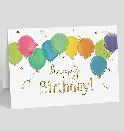 Business birthday cards the gallery collection floating balloons birthday card colourmoves