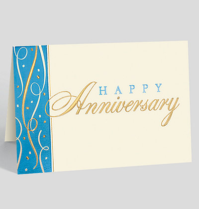 Anniversary Confetti Wishes Card