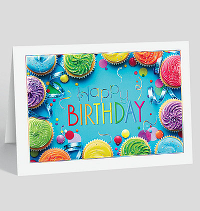 Business birthday cards the gallery collection colorful cupcakes birthday card bookmarktalkfo Image collections