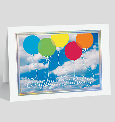 Sky High Birthday Card