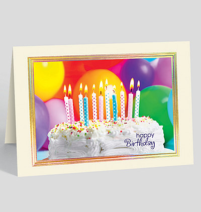 Sprinkled Cake Birthday Card