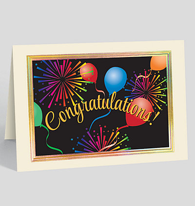 Congratulations Fanfare Card