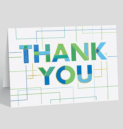 Linear Thank You Card