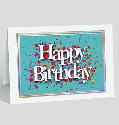 Foil Embossed Frame Wphoto Birthday Cards The Gallery Collection