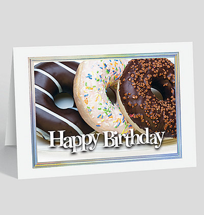Triple Donut Birthday Card