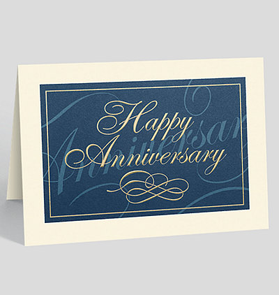 Classically Elegant Anniversary Card