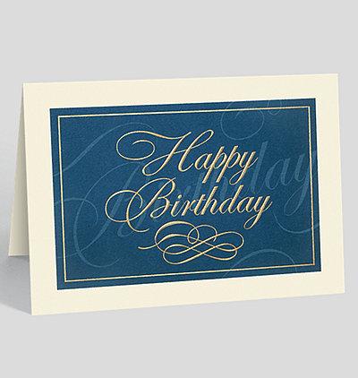 Classically Elegant Birthday Card