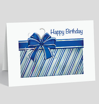 Gleaming Birthday Gift Card
