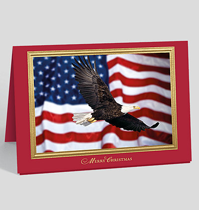 patriotic icons holiday card - Patriotic Christmas Cards