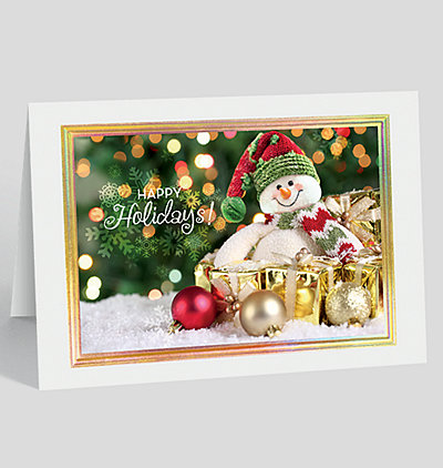 Happy holidays cards happy holidays greeting cards jolly snowman holiday card m4hsunfo