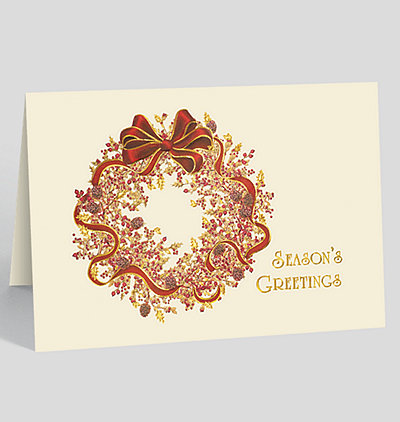 Berry Wreath Holiday Card