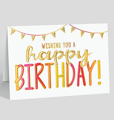 Birthday Ombre Card