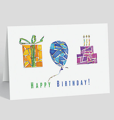 Multifaceted Birthday Card