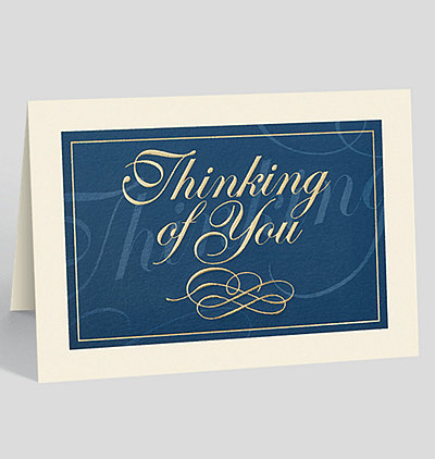 Classically Elegant Thinking of You Card