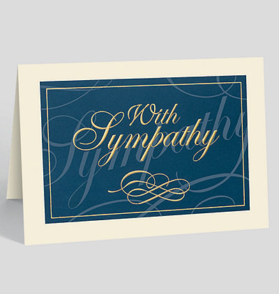 Classically Elegant Sympathy Card