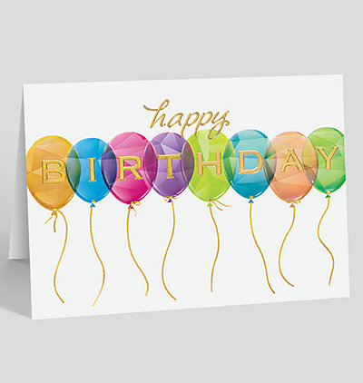 Prismatic Birthday Balloons Card