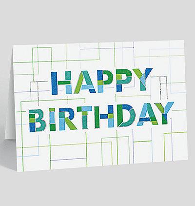 Linear Happy Birthday Card