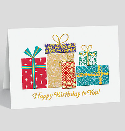 Patterned Birthday Gifts Card