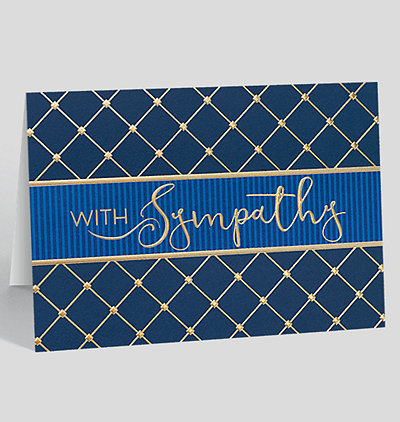 Quilted Sympathy Card