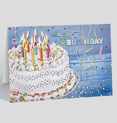 Confetti Birthday Splendor Card
