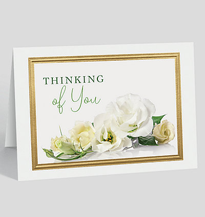 White Rose Thinking of You Card