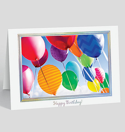 Balloons in the Sky Birthday Card