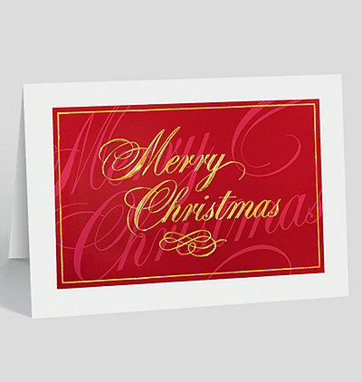 Classically Elegant Merry Christmas Card