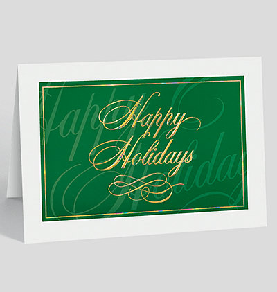 Classically Elegant Happy Holidays Card