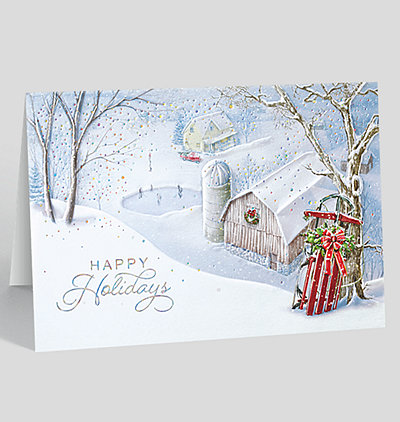 Holiday Country Sledding Card