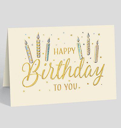 Birthday Candle Sparkle Card