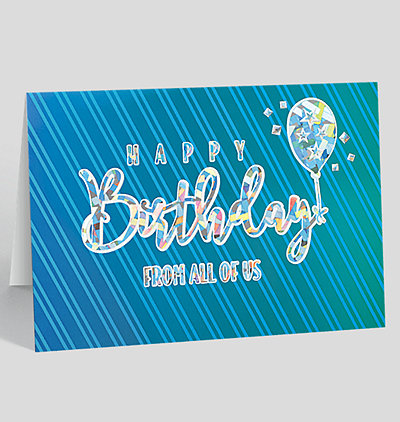Striped Birthday Wishes Card