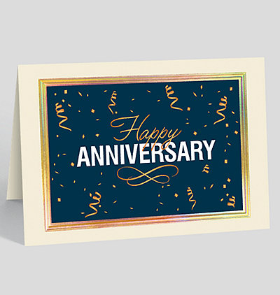 Dapper Anniversary Card