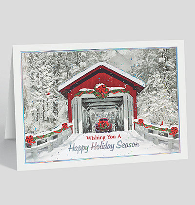 Holiday Covered Bridge Card