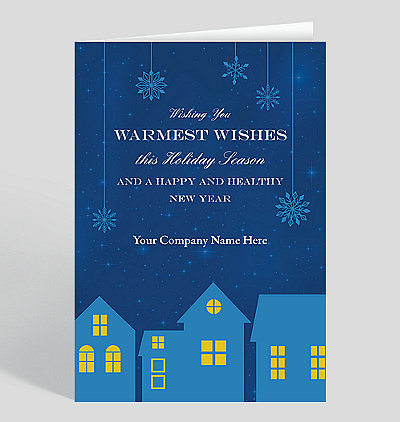 twinkling twilight holiday card