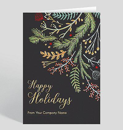 whimsical boughs christmas card