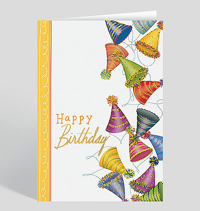 Employee birthday cards the gallery collection birthday hat jumble greeting card m4hsunfo