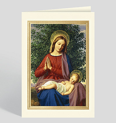 The Madonna and Child Christmas Card