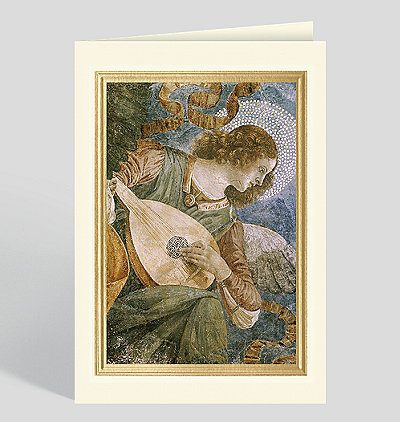 Music Making Angel with Lute c. 1480 Christmas Card