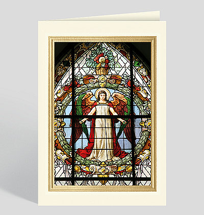 Stained Glass Window at Saint Gertrude's Church, Gamla Stan, Stockholm Card