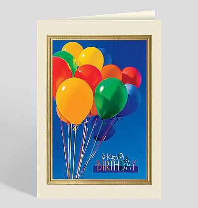Vivid Birthday Balloons Card
