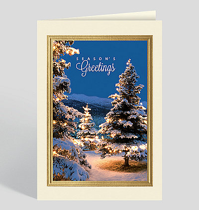 Brilliant Holiday Forest Holiday Card