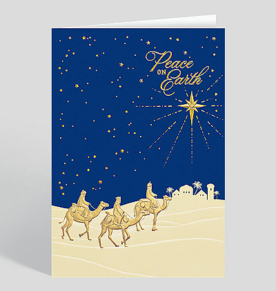wise men of peace card - Religious Christmas Cards