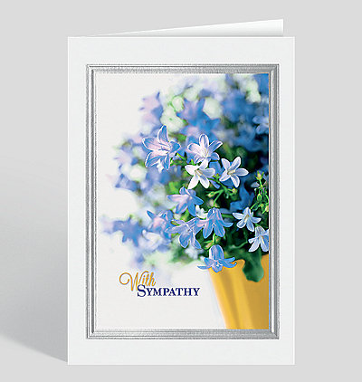 Bell Flower Sympathy Card