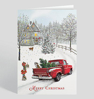 Merry christmas cards for your christmas holiday greetings christmas delivery card m4hsunfo