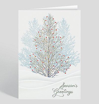 Winterberry Tree Holiday Card