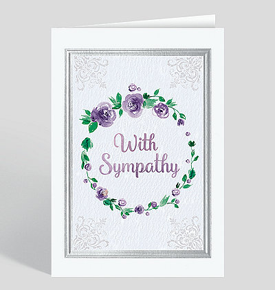 Watercolor Sympathy Card