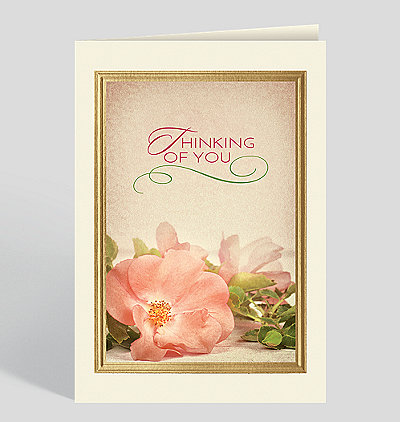 Peach Blossom Thoughts Thinking of You Card